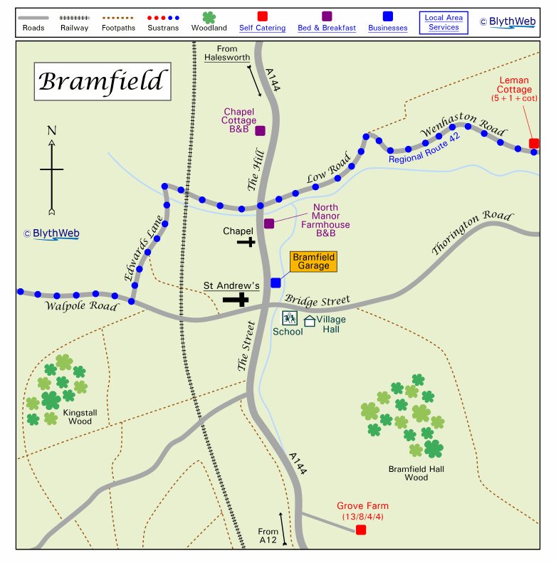 Bramfield village map